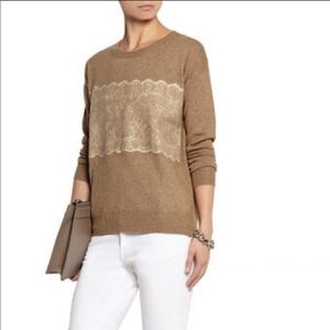 J Crew needle punch knit wool blend pullover